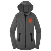Cal High Paw Embroidered - ® Ladies Venue Fleece Full Zip Hoodie Thumbnail