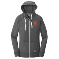 Cal High Paw Embroidered - ® Ladies Sueded Cotton Full Zip Hoodie Thumbnail