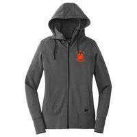 Cal High Paw Embroidered - ® Ladies Tri Blend Fleece Full Zip Hoodie Thumbnail