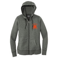 Cal High Paw Embroidered - ® Ladies French Terry Full Zip Hoodie Thumbnail
