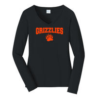 Grizzly - Ladies Long Sleeve Fan Favorite V Neck Tee Thumbnail