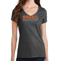 Grizzly Nation - Ladies Fan Favorite V Neck Tee Thumbnail