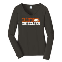 Cal Grizzlies Bear - Ladies Long Sleeve Fan Favorite V Neck Tee Thumbnail